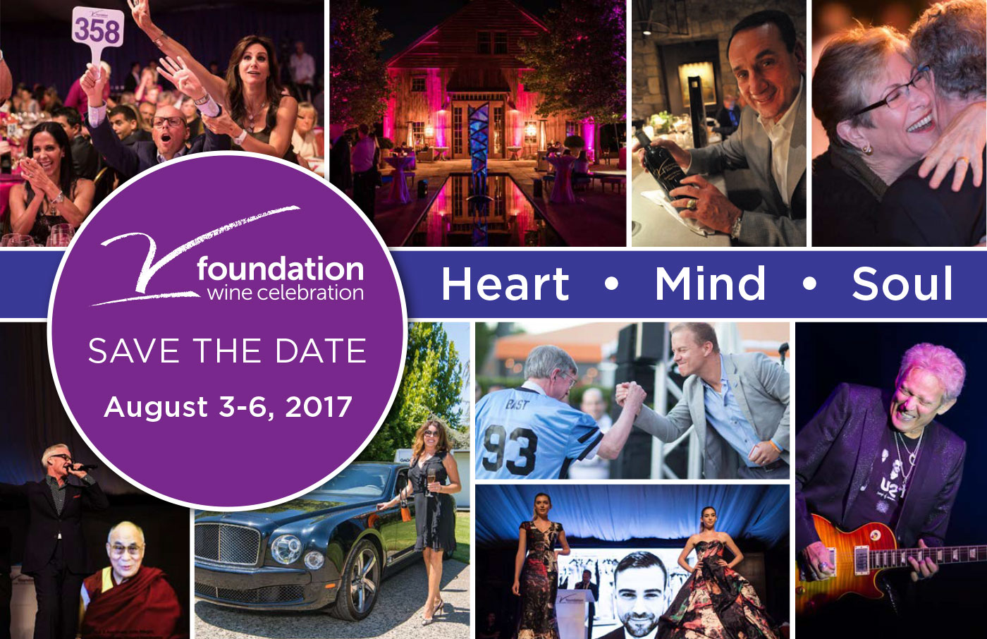 Save the Date: Aug 3 - 6, 2017