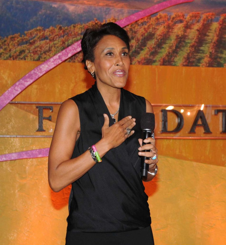 "10th Anniversary of the V Foundation Wine Celebration was hosted by ""Good Morning America"" co-anchor, Robin Roberts, celebrating her one-year anniversary as a breast cancer survivor."