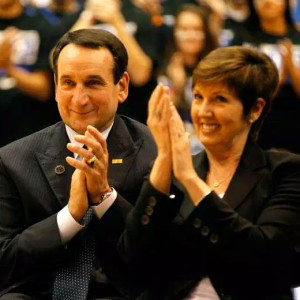 Head Men's Basketball Coach at Duke University Coach Mike Krzyzewski, and his wife Mickie, host the V Foundation Wine Celebration event.